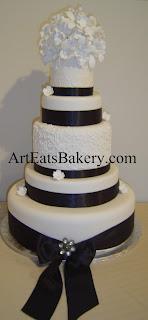 Black And White Wedding Cake 14 Trend  tier custom unique
