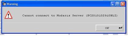 Sửa Lỗi Cannot connect to Modaris Server Trong Lectra Diamino 1