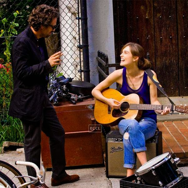 Keira Knightley and Mark Ruffalo in a still from the Hollywood film Begin Again.