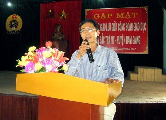 Gặp mặt giao lưu với Phòng GD&ĐT và CĐ ngành giáo dục Nam Giang