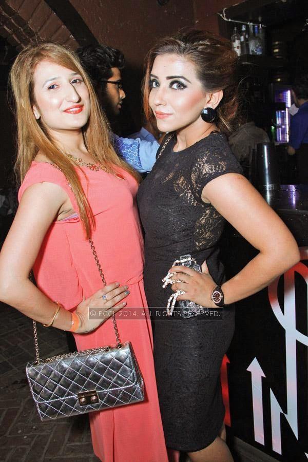 Pooja Motwani and Swati during Kriti Dhir's birthday party, held at The Mansion Club in Garden Of Five Senses, New Delhi.