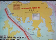 Hong Kong Around Island race course chart