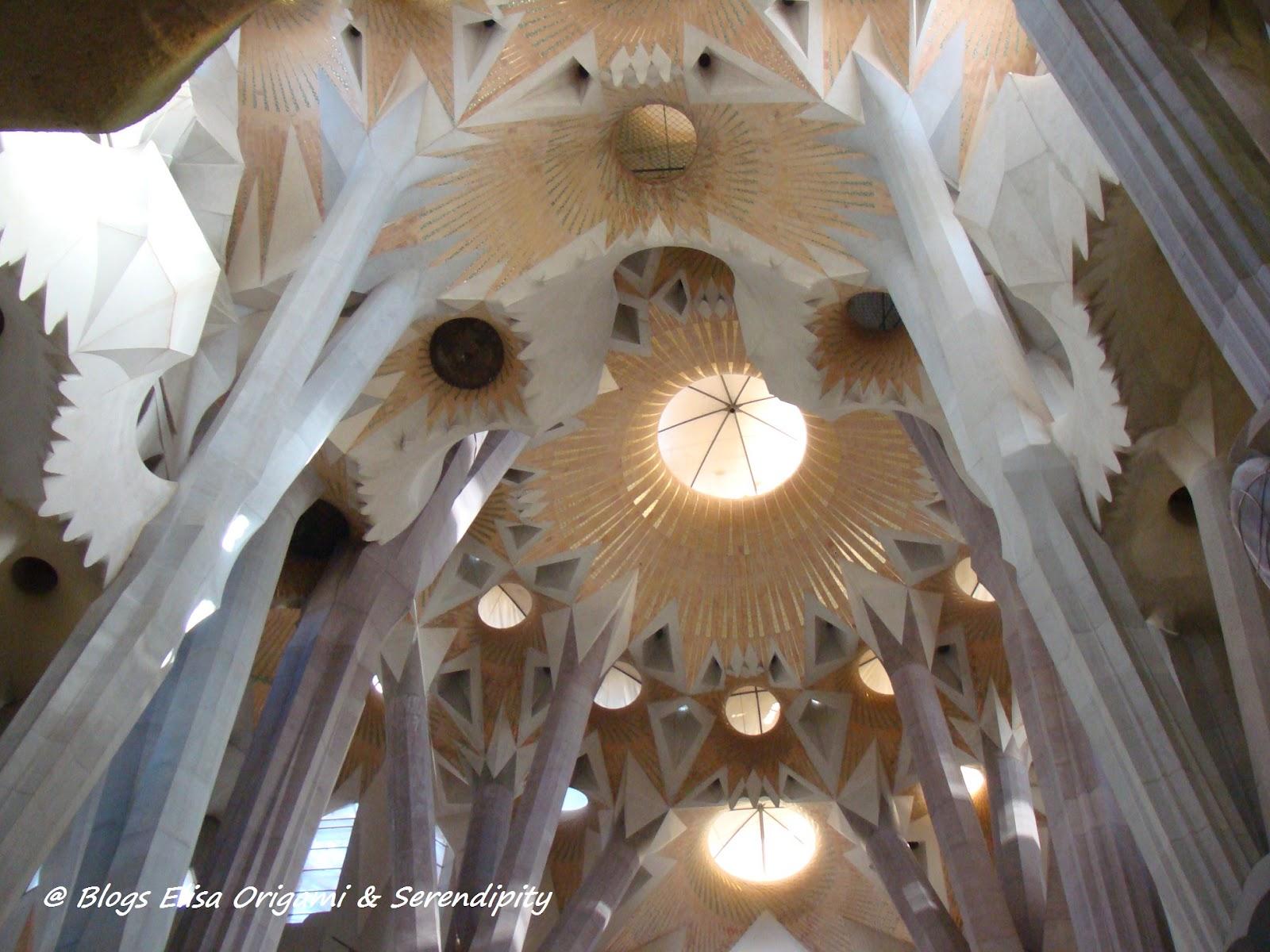 Cúpula, Interior de la Sagrada Familia, Gaudí en Barcelona