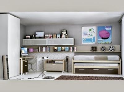 30 dormitorios juveniles que te encantaran - Planos de habitaciones juveniles ...