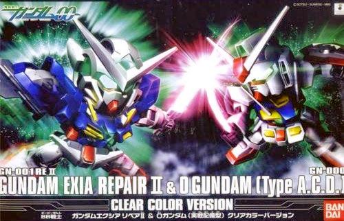 Gundam Exia Repair II và O Gundam (clear color version) được làm từ chất liệu nhựa cao cấp an toàn