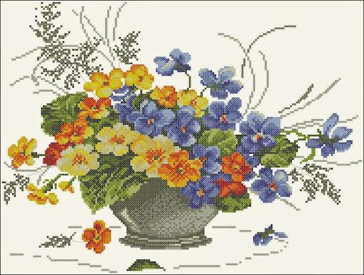 Spring flowercross stitch pattern