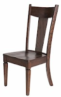 Corsica Dining Chair in Weathered/Distressed Twilight Oak