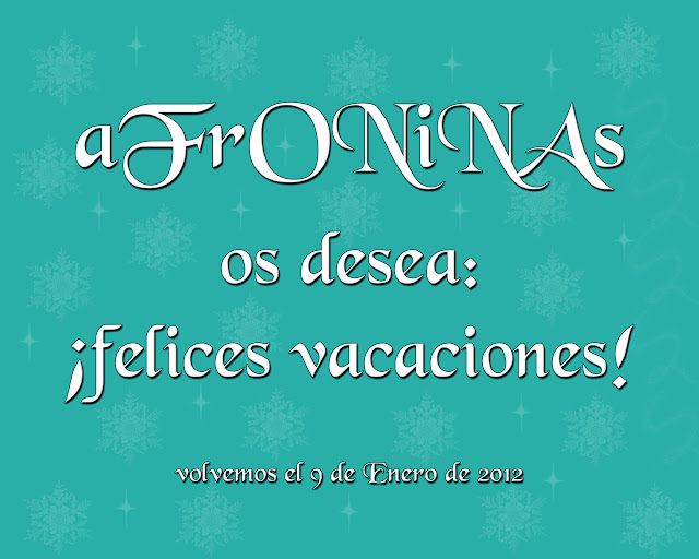 Vacaciones tarjeta navidad 2011 2012 photoshop afroninas nochevieja