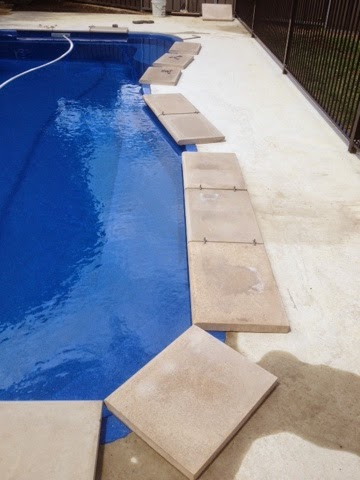 Pool Coping And Surrounds With 50mm Thick Cement Paver Tiles