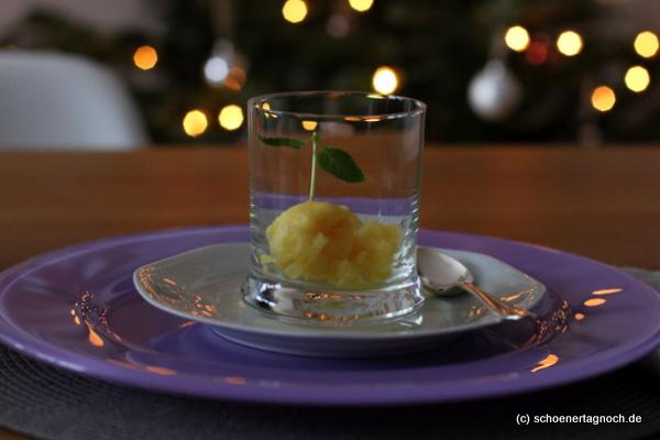 Orangen-Zimt-Sorbet mit Sternanis und Gin [Weihnachts-Menü]