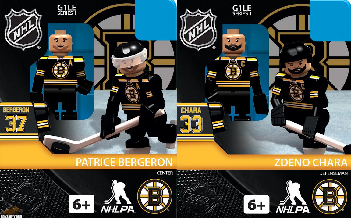 OYOSports Boston Bruins Lego Minifigs -- Chara & Bergeron