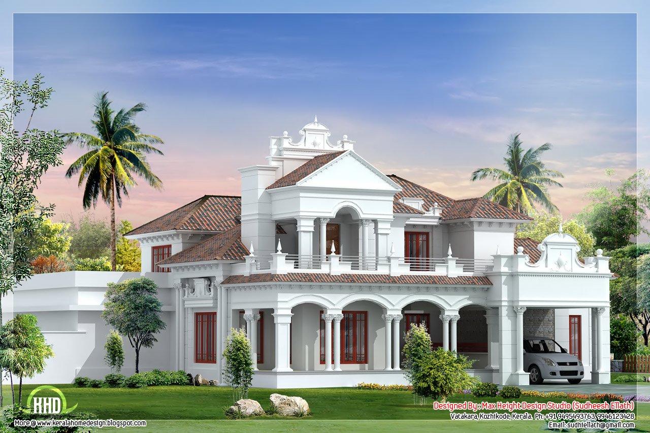 3100 colonial house plan kerala home design and for Colonial house plans