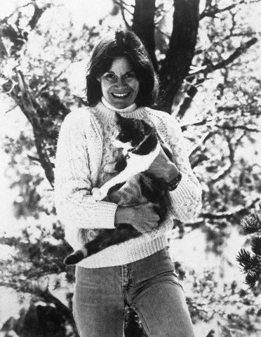 Judy Blume and a cat