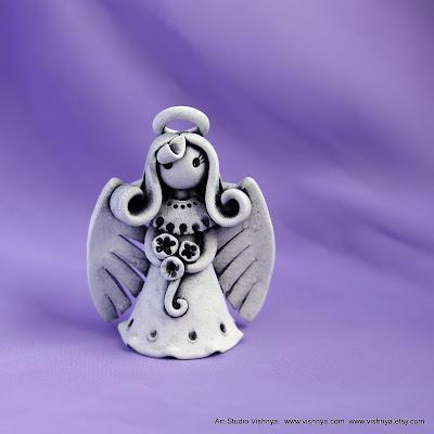 Маленький ангел - авторская керамика Элли Вишневской