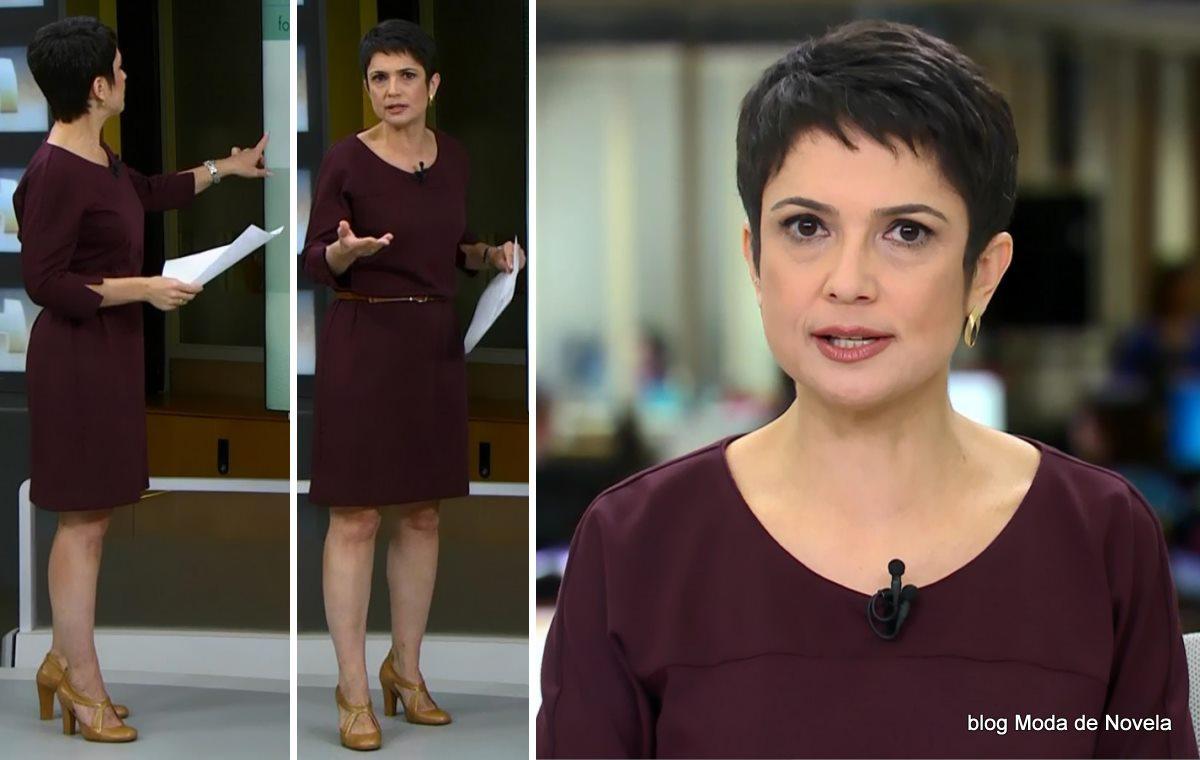 moda do programa Jornal Hoje - look da Sandra Annenberg dia 22 de maio