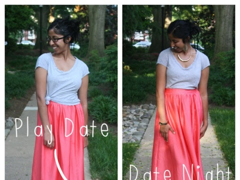 Wardrobe Basics: Play Date to Date Night - The Maxi Skirt