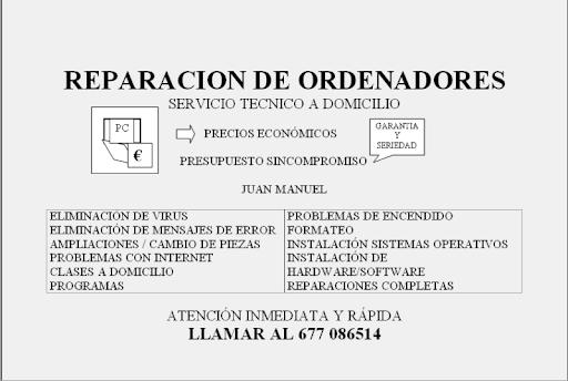 INFORMATICO, REALIZA REPARACIONES, CONFIGURACIÓN,