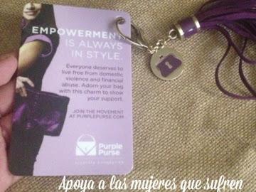 Apoya a las Mujeres que sufren de Violencia Doméstica con el Programa #PurplePurse #BolsoMorado