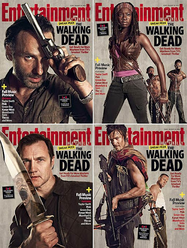 The walking dead season 3 magazine Cover