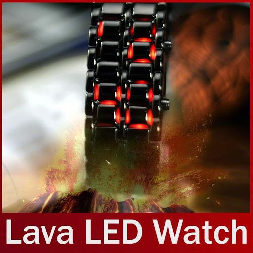 Hot Sale Black silver Lava LED Display Watch Iron Samur