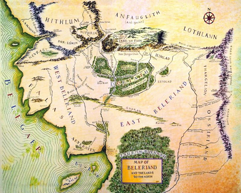 Χάρτης του Beleriand