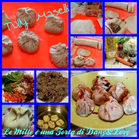 ravioli cinesi al vapore ripieni di carne