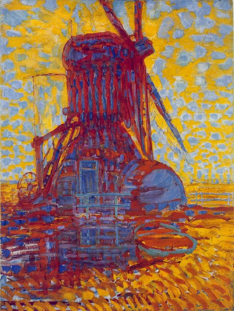 Piet Mondrian - Mill in Sunlight.The Winkel Mill,1908
