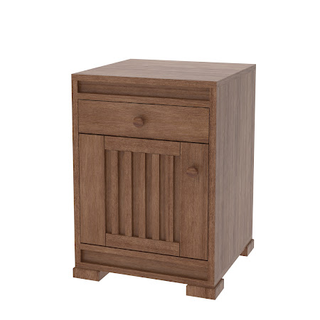 Hillside Nightstand with Door, Modern Cherry