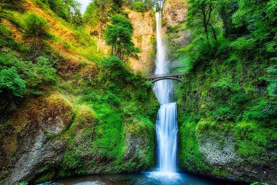 Водопад Малтнома, Орегон, США, Красивые водопады планеты