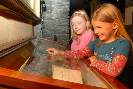 Children enjoying 'Pen, Paint and Pixels: Touring the English Lakes across 250 years' at Dove Cottage recently