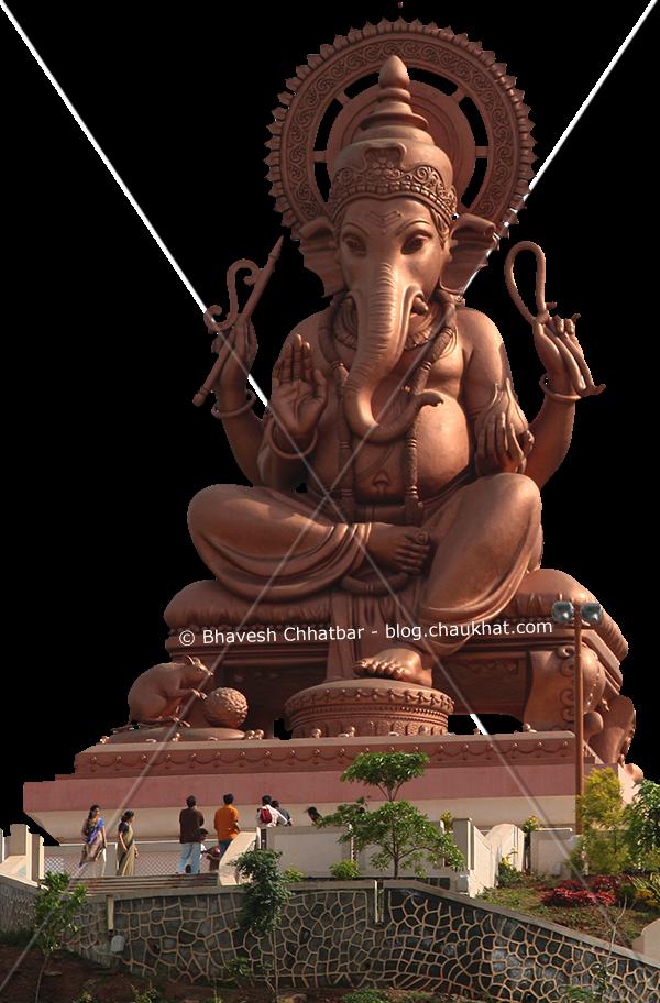 Begdewadi Ganpati Temple [Huge Statue]