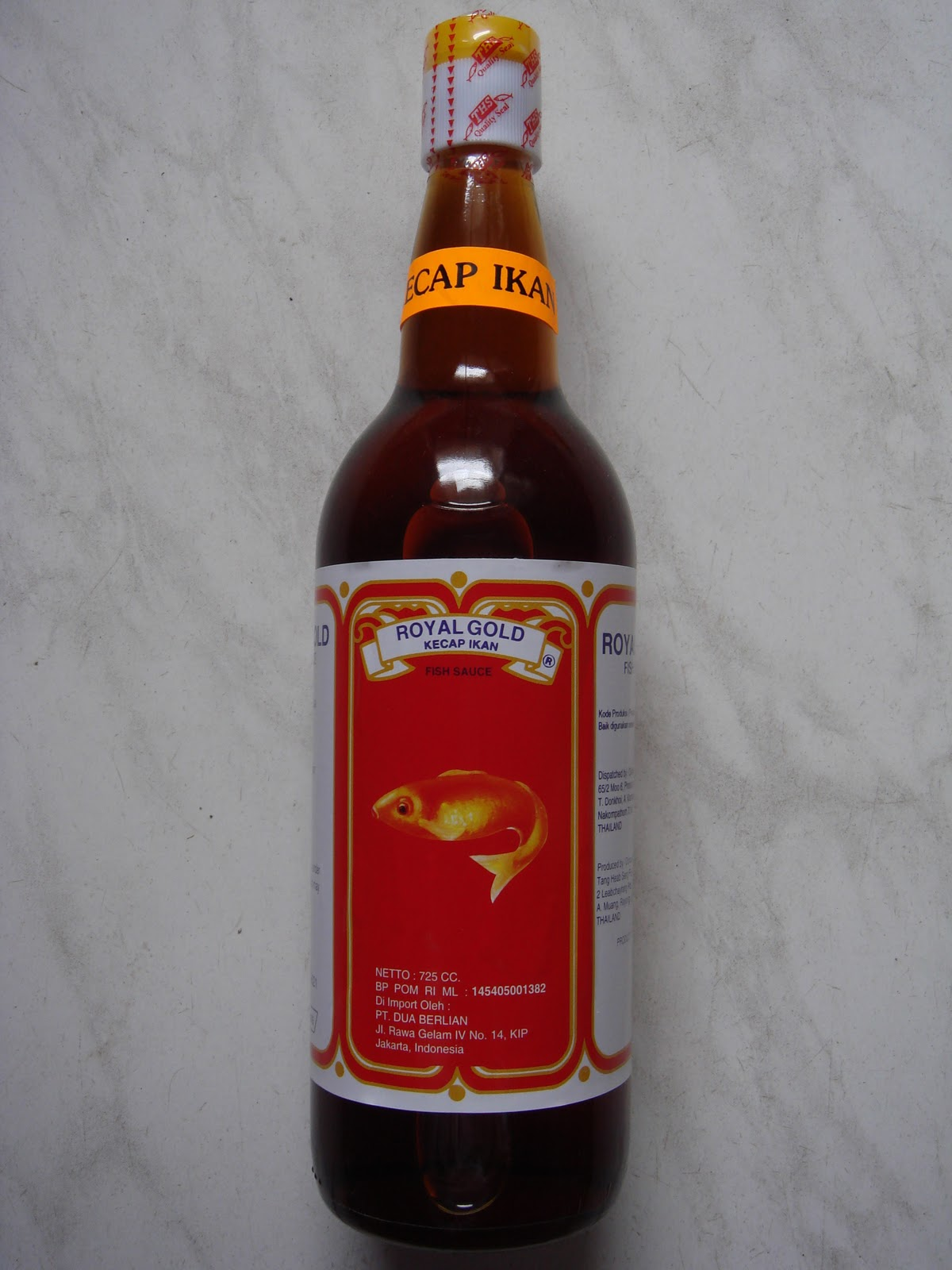 Lee Kum Kee Saus Barbeque 240 Gr. Source · Fish Sauce ROYAL GOLD @ 725