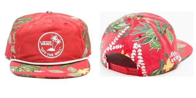 """df70cbcfb7c M   began her look with a SnapBack cap from Vans. This Broloha Surf SnapBack  in the """"Red Hawaiian"""" colorway"""