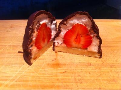 hjemmelavede flødeboller med jordbær opskrift