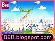 لعبة لاعب السيرك المدهش والقفز والتأرجح على الحبال الخطيرة