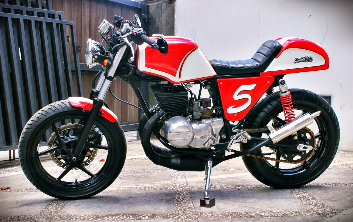 Modifikasi Thunder 125 Jadi Cafe Racer