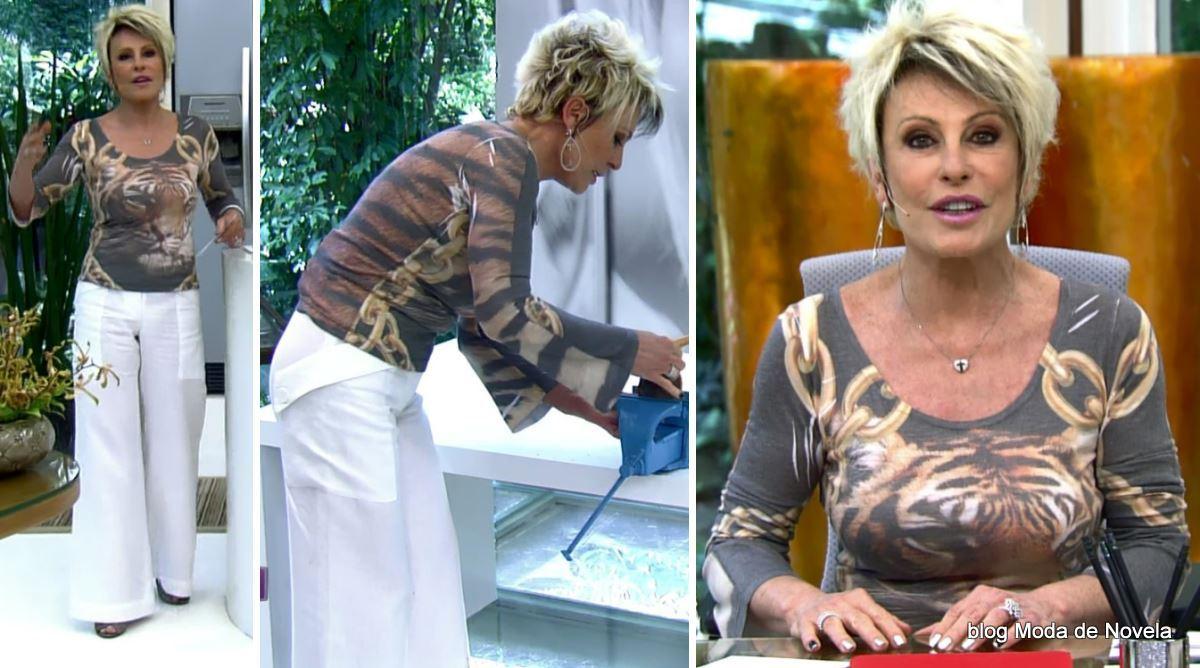 moda do programa Mais Você - look da Ana Maria Braga dia 8 de janeiro