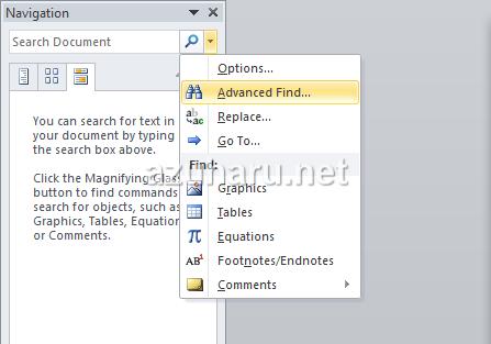 cara menggunakan fungsi find microsoft word