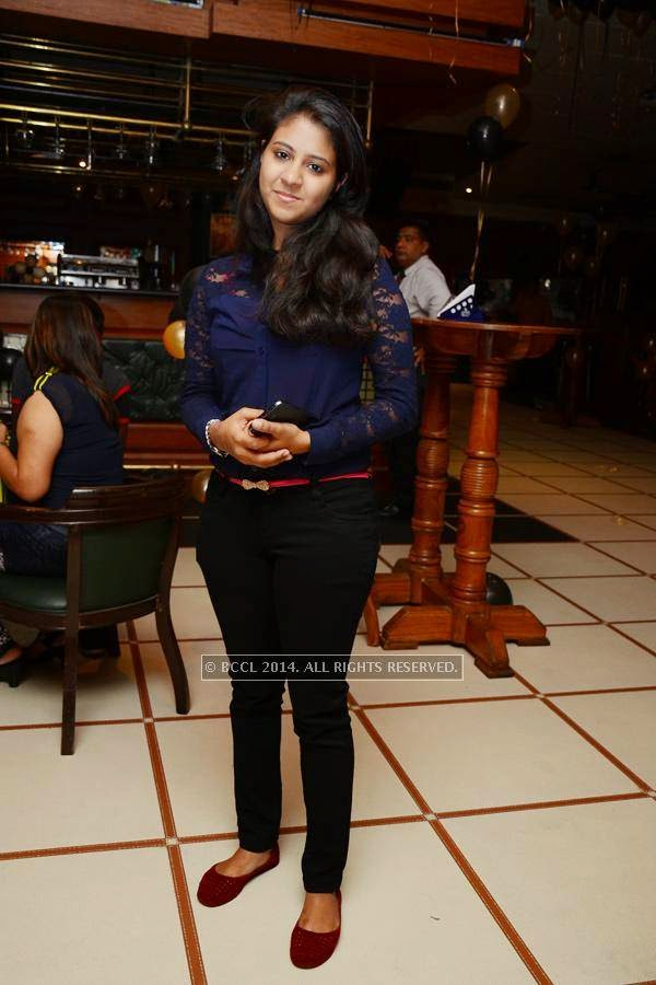 Nikhita poses during the birthday party, in Hyderabad.