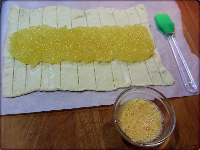 Ingredientes para trenza de hojaldre con cabello de ángel