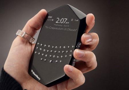 Konsep Blackberry Masa Depan. New concept of Blackberry for the future.