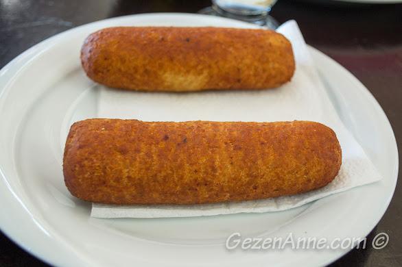 Aşina restoran'da yediğimiz içli köfte, Gaziantep