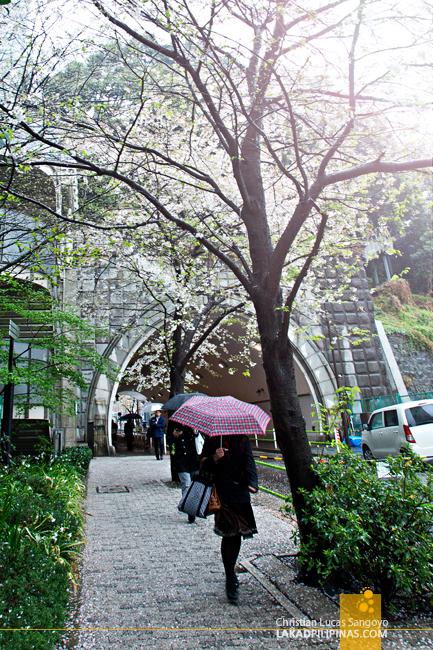 En Route to Atago Shrine in Tokyo