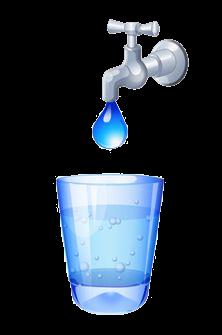Přelévání vody ilustrace