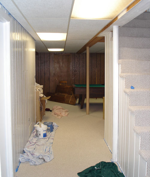 How To Paint Basement Paneling