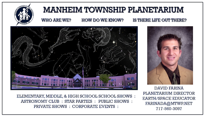 Contact Planetarium Director David Farina for more information.