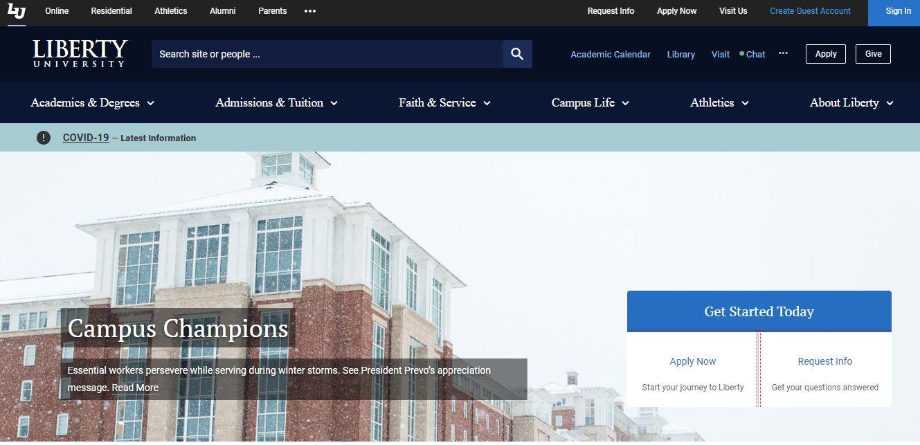 Liberty University online cybersecurity degree