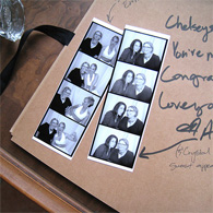 Photo booth strip guest book