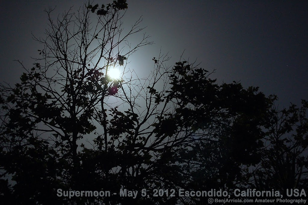 Photo 3 of Super Moon taken on May 5, 2012 from San Diego / Escondido, California