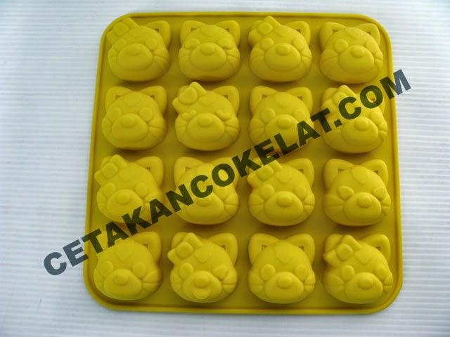 cetakan coklat cokelat kucing hewan binatang SIL042 SIL42